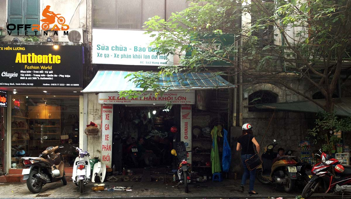 Offroad Vietnam Motorbike Adventures - Repair services for your bikes in Hanoi: Binh motorcycle, motorbike and scooter repair shop in Hanoi. Sua chua xe may o Hanoi.