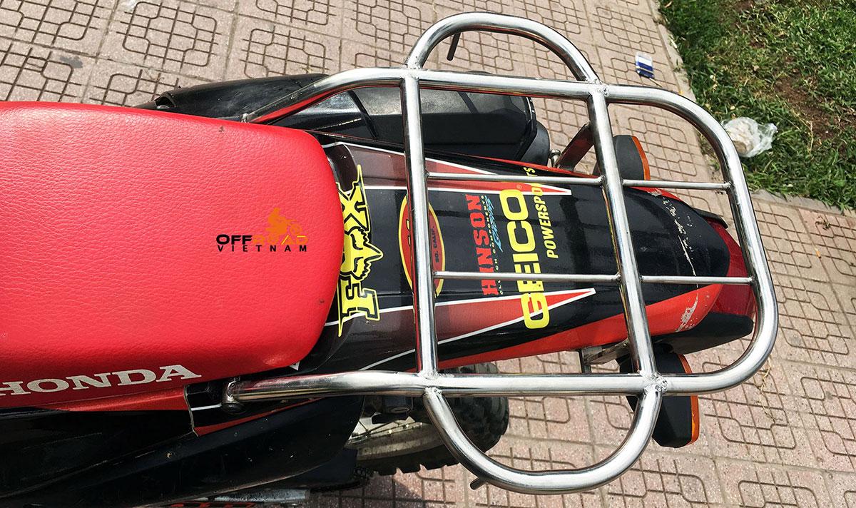 Offroad Vietnam Motorbike Adventures - Riding Gear For Motorbiking Safely in Vietnam, Honda CRF250L luggage rack