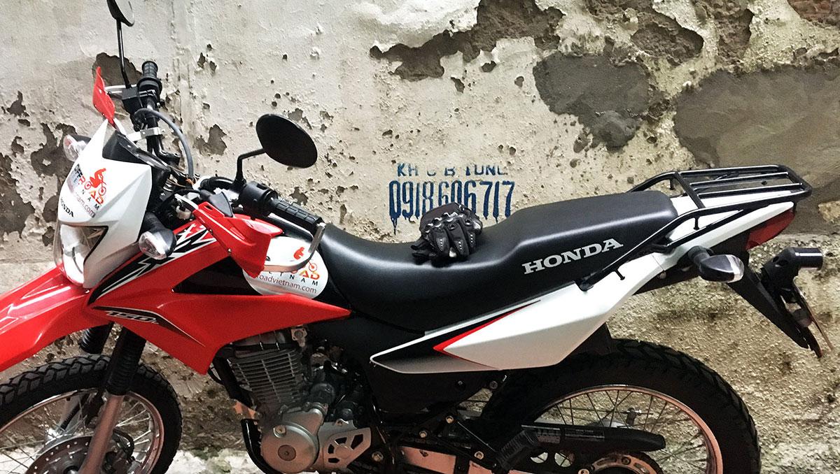 Riding Gear For Motorbiking Safely: Honda XR125L/150L luggage rack.