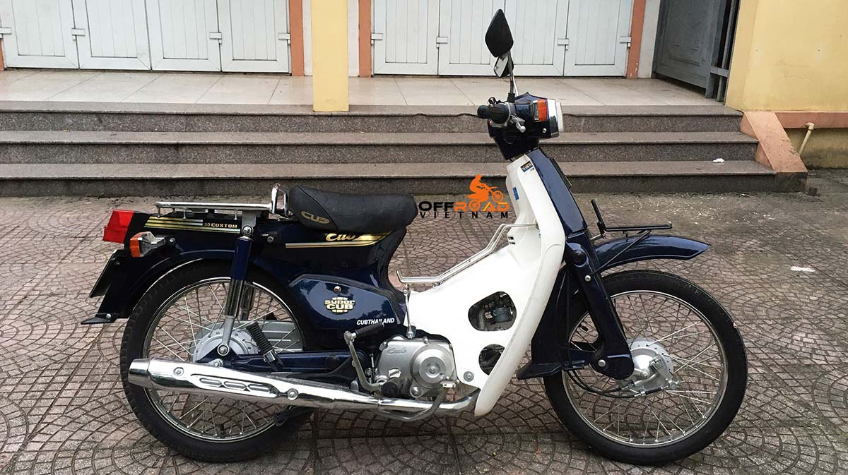 Offroad Vietnam Scooter Rental - Chinese Cub 50cc hire in Hanoi. Discontinued now due to bad quality.