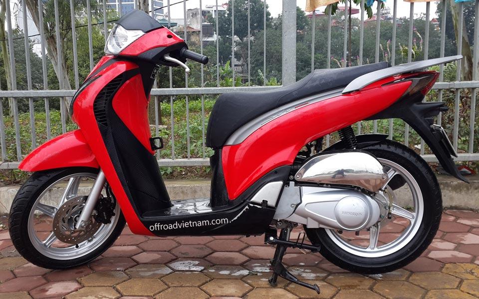 Offroad Vietnam Motorbike Sale - Red Honda SHi 125cc 2012 For Sale, Hanoi. Red maxi-motorscooter Honda SHi 125cc