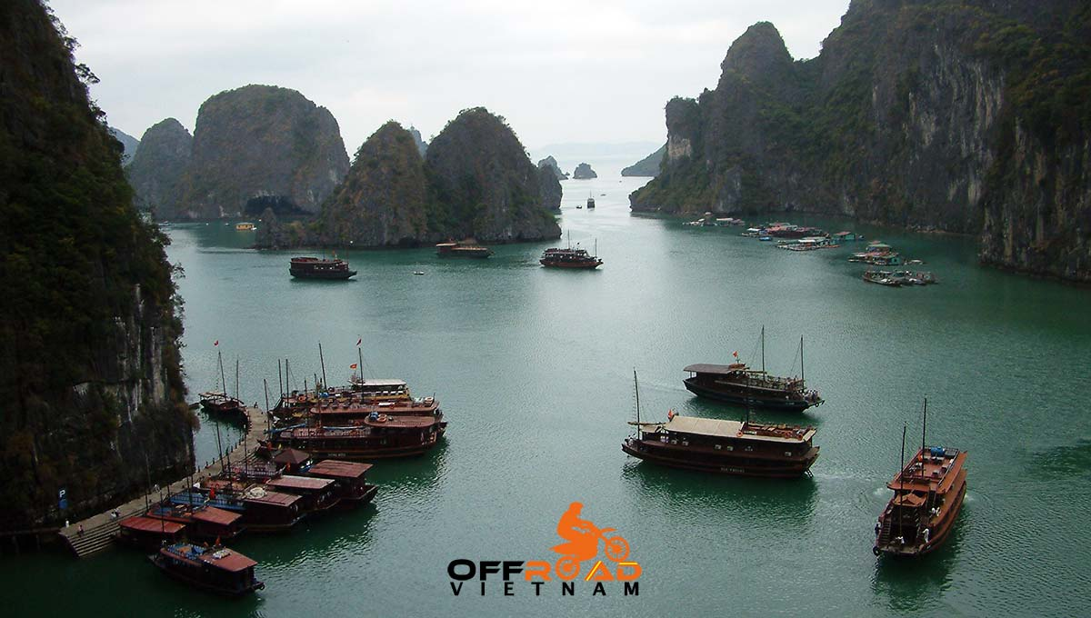 Offroad Vietnam Motorbike Adventures - Standard 8 days North-east motorcycling with a boat cruise.