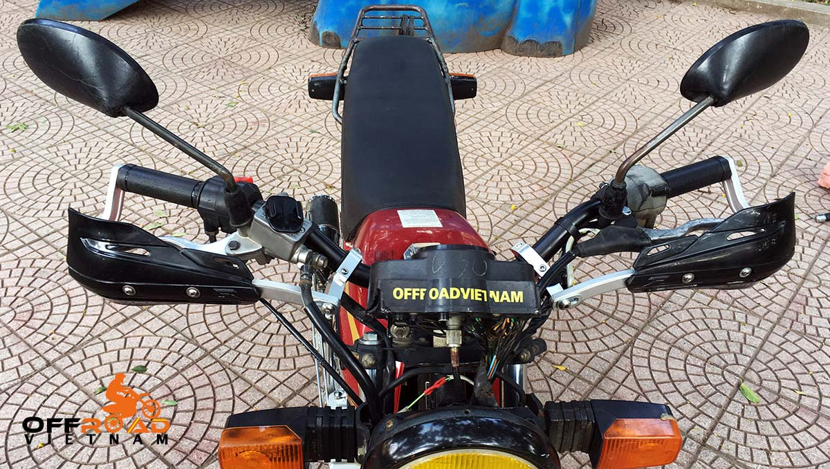 Offroad Vietnam Motorbike Adventures - Honda CGL125 with a raised handlebar.