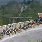 Large dirt bike tour 17 riders with Offroad Vietnam