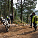 Stop at road side to relax on an Offroad Vietnam dirt bike tour